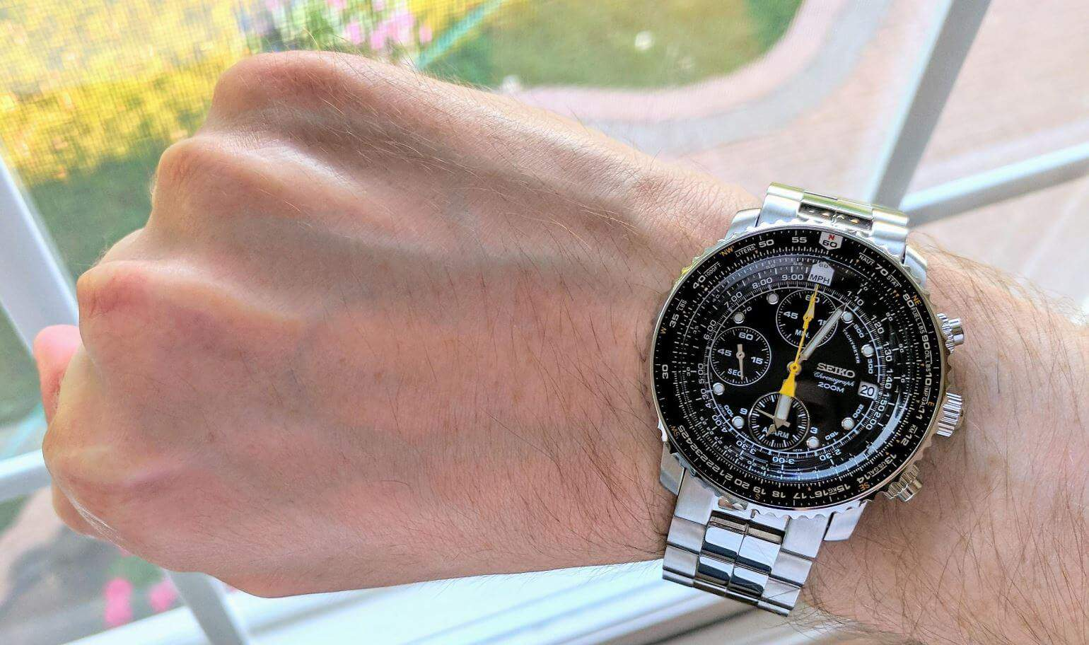 Seiko Flightmaster SNA411 Chronograph Watch kre